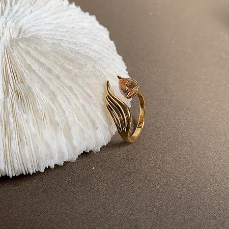 Al por mayor joyería pluma diamante anillo de cobre abierto Nihaojewelry NHGI381266's discount tags