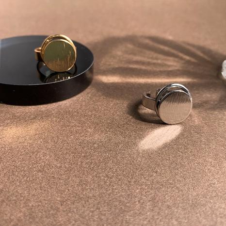 Al por mayor joyería retro anillo de cobre de apertura redonda Nihaojewelry NHGI381267's discount tags
