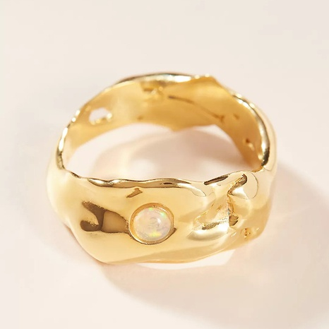 Al por mayor joyería retro anillo de cobre ancho irregular Nihaojewelry NHGI381279's discount tags