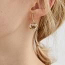 Nihaojewelry wholesale jewelry fashion transparent beads irregular copper stud earrings NHGI381281