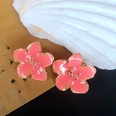 NHOM1761381-Peach-Blossom-Drop-Glaze-Stud-Earrings-2.3CM