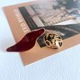 NHOM1761455-Asymmetric-drip-glaze-silver-pin-stud-earrings