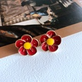 NHOM1761456-Plum-Blossom-Drop-Silver-Needle-Stud-Earrings-1.