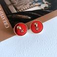 NHOM1761457-Round-Rose-Silver-Needle-Stud-Earrings-1.5CM