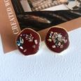 NHOM1761459-Irregular-silver-needle-stud-earrings-2CM