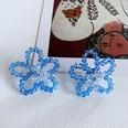 NHOM1761445-Blue-Flower-Silver-Needle-Stud-Earrings-3.8CM