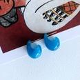 NHOM1761451-Snail-Silver-Needle-Stud-Earrings-1.8CM