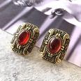 NHOM1761462-Ruby-Silver-Needle-Stud-Earrings-3.12.3CM
