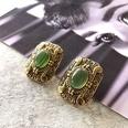 NHOM1761463-Emerald-Silver-Needle-Stud-Earrings-3.12.3CM