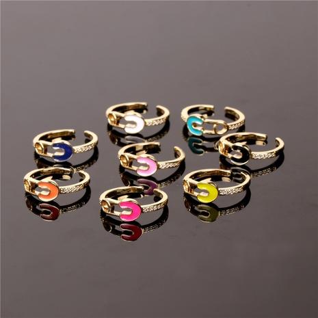 Nihaojewelry couleur goupille dégoulinante bague ouverte bijoux en gros NHPY381338's discount tags