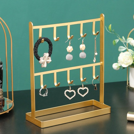 Nihaojewelry Desktop wrought iron jewelry storage rack wholesale accessories NHAW381780's discount tags