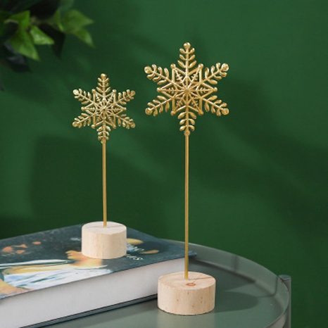 Nihaojewelry Wooden Base Metal Snowflake Home Creative Decoration Wholesale Accessories NHAW381781's discount tags