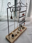 Nihaojewelry wooden base earring necklace display stand wholesale accessories NHAW381784