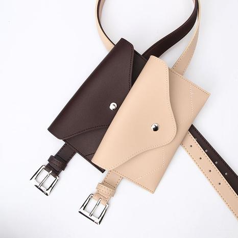 Großhandel einfache einfarbige mit Tasche Dornschließe Gürtel nihaojewelry NHJN381926's discount tags