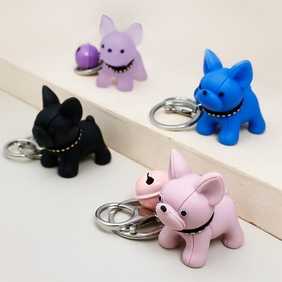 Nihaojewelry cute acrylic puppy keychain wholesale accessories NHAP381952