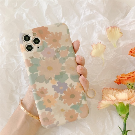 wholesale accessories retro watercolor daisy flower mobile phone case Nihaojewelry NHFI381992's discount tags