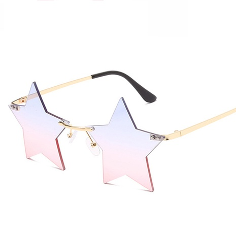 wholesale accessories five-pointed star frameless sunglasses Nihaojewelry NHVM381352's discount tags