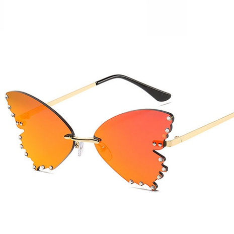 wholesale accessories butterfly metal diamond sunglasses Nihaojewelry NHVM381349's discount tags