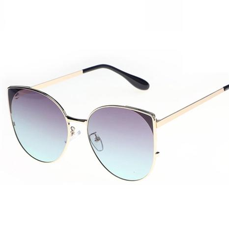 wholesale accessories gradient color metal cat-eye sunglasses Nihaojewelry NHVM381359's discount tags