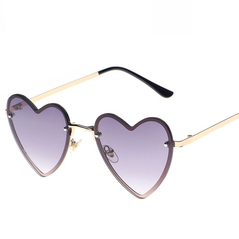 wholesale accessories metal heart multicolor sunglasses Nihaojewelry NHVM381378's discount tags