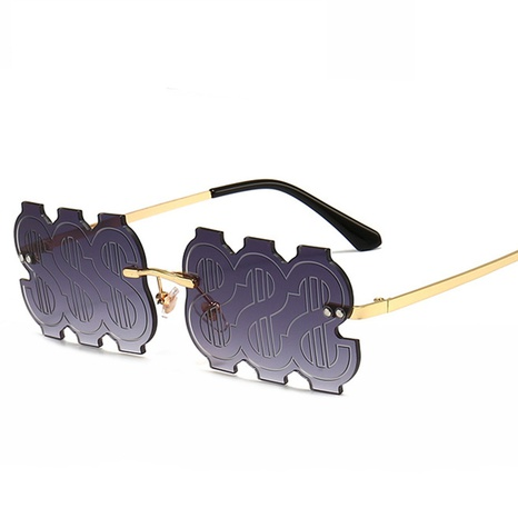 wholesale accessories gradient color dollar sunglasses Nihaojewelry NHVM381394's discount tags