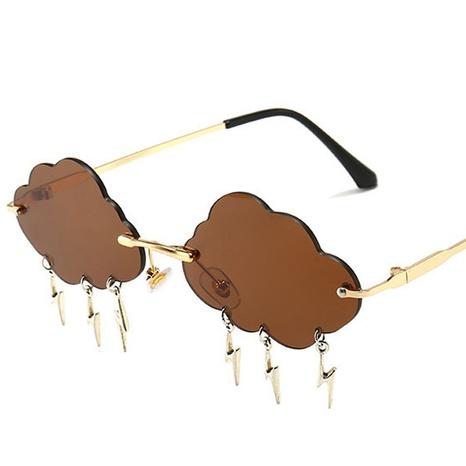wholesale accessories cloud shape pendant frameless sunglasses Nihaojewelry NHVM381397's discount tags