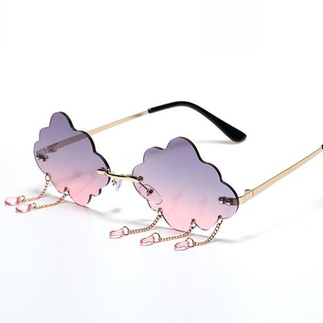 wholesale accessories cloud shape frameless sunglasses Nihaojewelry NHVM381406's discount tags