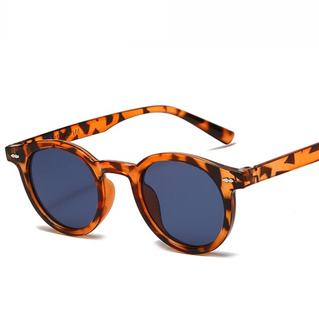 wholesale accessories small round frame leopard sunglasses Nihaojewelry NHVM381414's discount tags