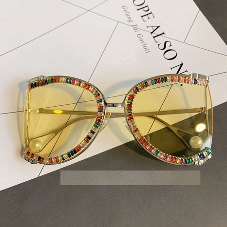 Wholesale Accessories Diamond Color Lens Sunglasses Nihaojewelry NHMSG381470's discount tags