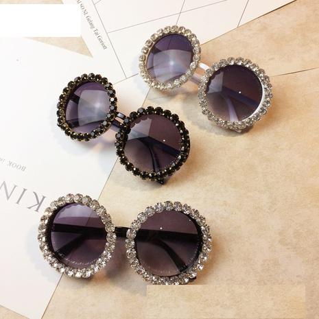 Vente en gros accessoires lunettes de soleil rondes en diamant Nihaojewelry NHMSG381473's discount tags