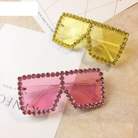 wholesale accessories diamond color big frame sunglasses Nihaojewelry NHMSG381471's discount tags