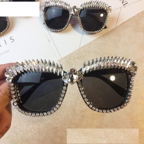 vente en gros accessoires lunettes de soleil rétro pleine monture en diamant Nihaojewelry NHMSG381482's discount tags