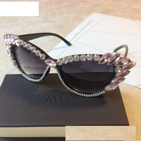 wholesale accessories diamond cat eye sunglasses Nihaojewelry NHMSG381487's discount tags