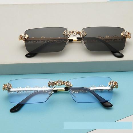 wholesale accessories rimless diamond sunglasses Nihaojewelry NHMSG381490's discount tags