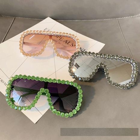 wholesale accessories color diamond frame sunglasses Nihaojewelry NHMSG381495's discount tags