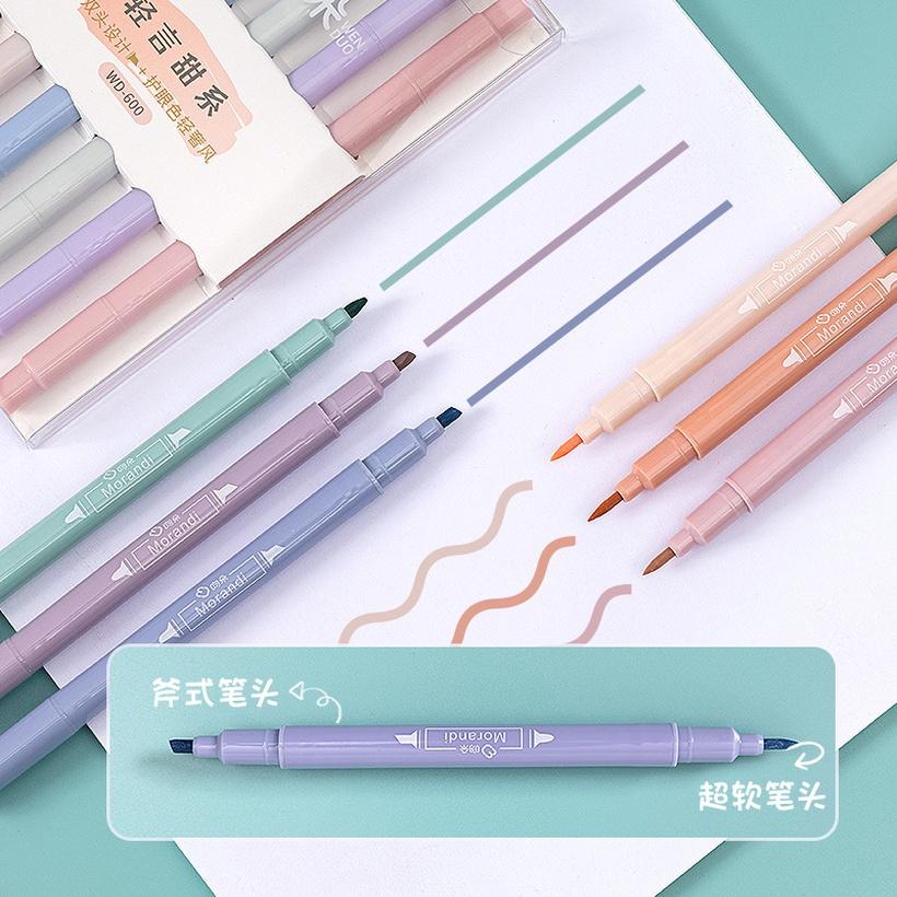 6-color Korean highlighter pen set