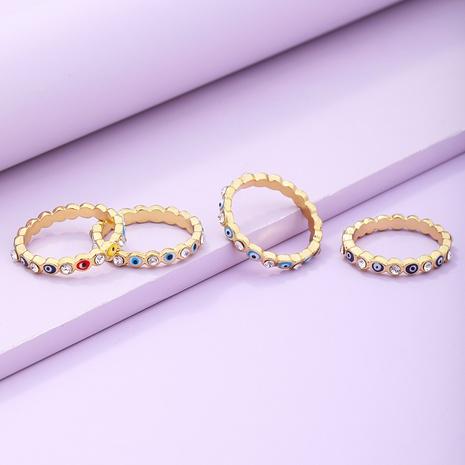 Vente en gros bague pour les yeux à coutures bleues rétro Nihaojewelry NHYIA401073's discount tags