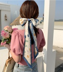 wholesale floral letters silk scarf ribbon hair rope Nihaojewelry NHCQ401196