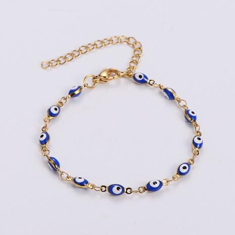 bisutería mayoreo estilo étnico color mal de ojo pulsera de acero de titanio nihaojewelry NHON401223's discount tags
