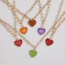 wholesale fashion doublelayer heartshaped necklace Nihaojewelry NHPJ401326