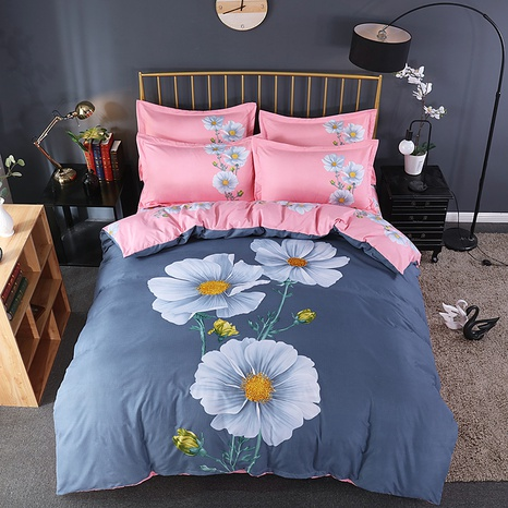 wholesale daisy printing brushed bedding four-piece set nihaojewelry  NHBWJ401562's discount tags