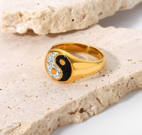 wholesale gold-plated stainless steel tai chi ring Nihaojewelry NHJIE401492's discount tags