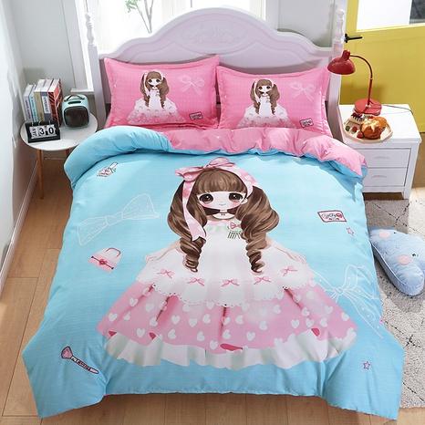 cartoon princess pattern printing bedding four-piece set wholesale nihaojewelry  NHBWJ402141's discount tags