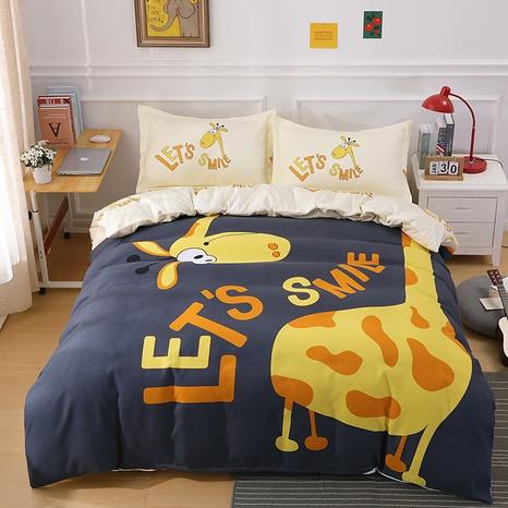 wholesale cartoon letter giraffe pattern printing bedding four-piece set nihaojewelry  NHBWJ402136's discount tags