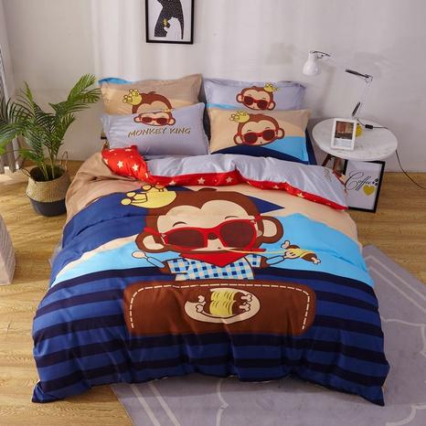 wholesale cartoon monkey pattern printing bedding four-piece set nihaojewelry  NHBWJ402118's discount tags