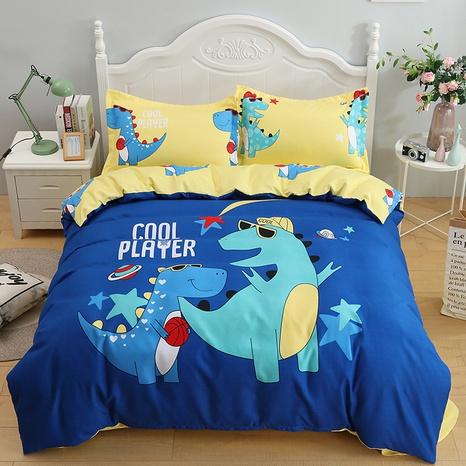 wholesale cartoon dinosaur pattern printing bedding four-piece set nihaojewelry  NHBWJ402105's discount tags
