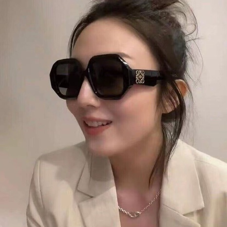 new fashion irregular frame solid color leopard sunglasses wholesale nihaojewelry NHLMO401890's discount tags