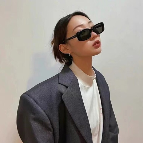 fashion small frame square solid color leopard sunglasses wholesale nihaojewelry NHLMO401889's discount tags