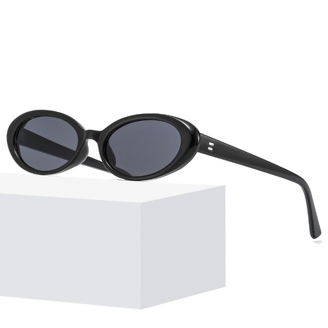 new fashion oval frame solid contrast color sunglasses wholesale nihaojewelry NHLMO401891's discount tags