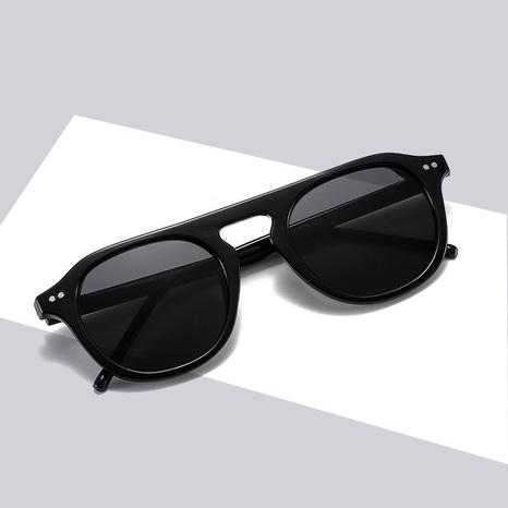 Korean fashion round frame jelly color single beam punk rice nail sunglasses wholesale nihaojewelry NHBA401932's discount tags